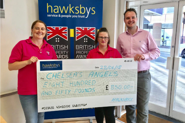 Hawksby Donate To Chelsea's Angels